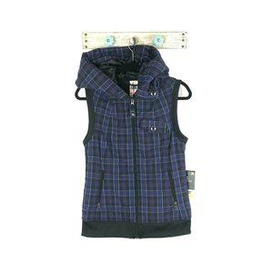 NEW Burton M Purple Plaid Starr Flannel Wash Vest
